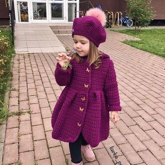 10 Preciosos abrigos para tu bebé en crochet