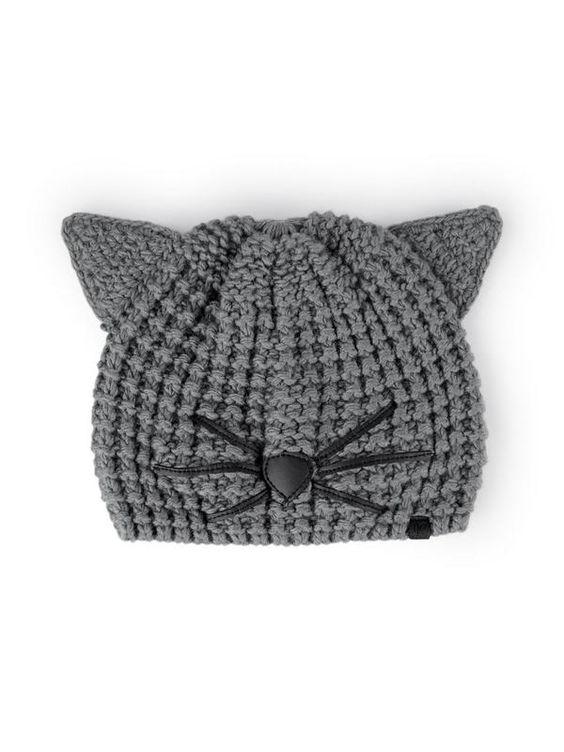 Gorrito nenes con orejitas de gatito incorporadas