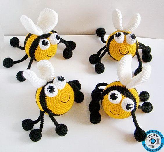 insecto hecho a mano en crochet