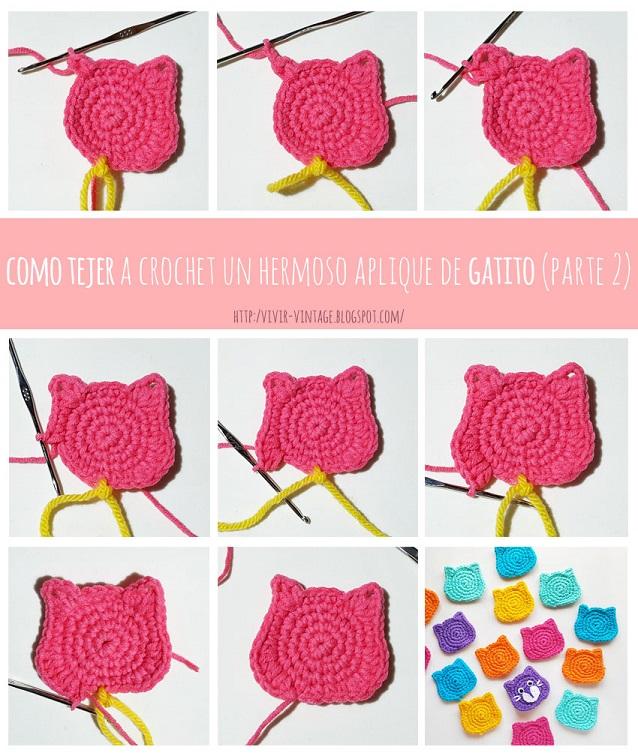 foto tutorial aplique crochet