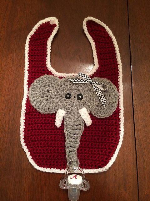 Baberito Elefante con porta chupetes - Vídeo tutorial