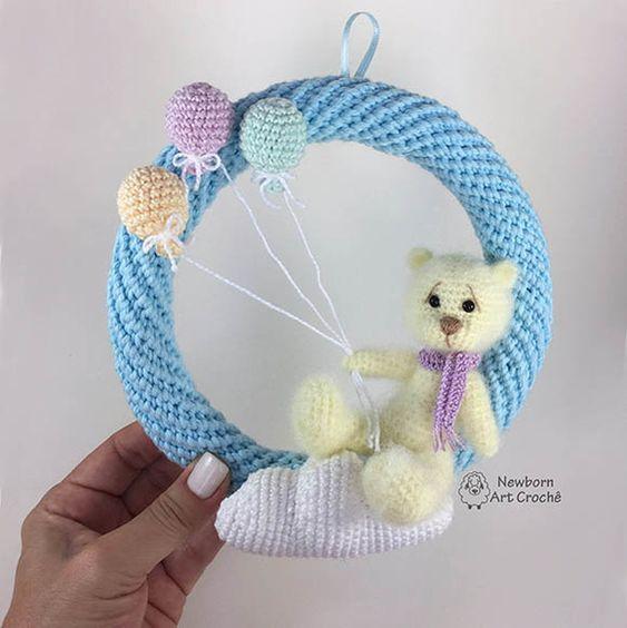 corona regalo crochet