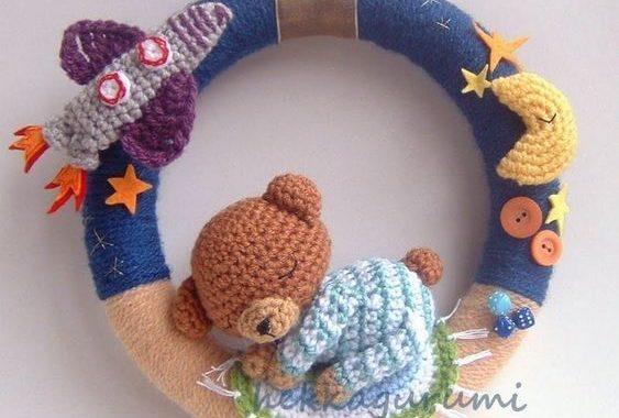 Lindas coronas para bebé en crochet