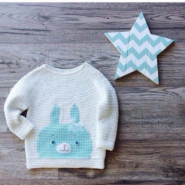 Jersey con carita de conejo ¡una idea preciosa!