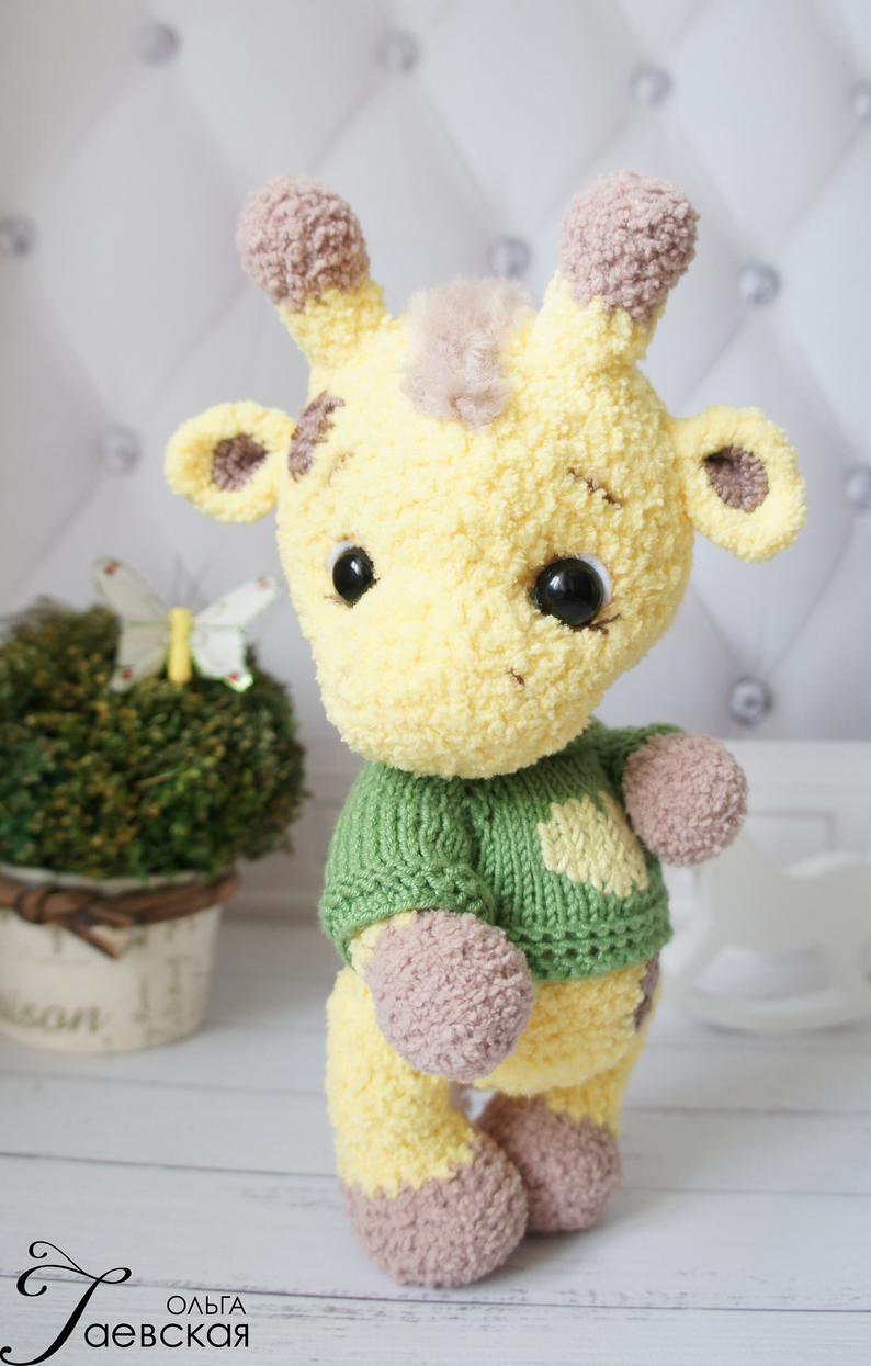jirafa hecha en crochet