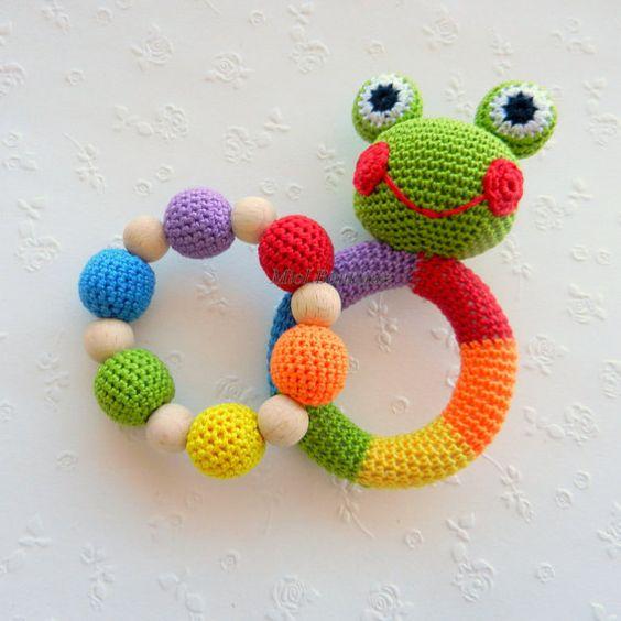 mordedor bebé crochet